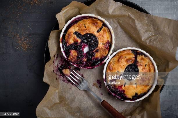 Homemade summer blueberry mini pie