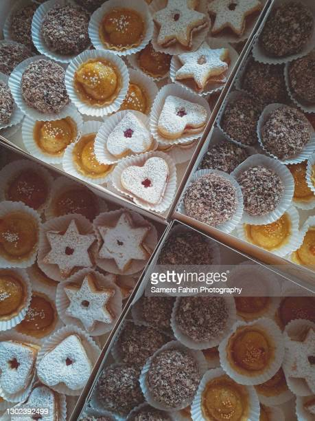 homemade sweet algerian pastries in cans - hainaut stock pictures, royalty-free photos & images