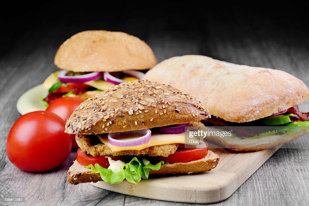 Sabroso sándwich caseros : Foto de stock