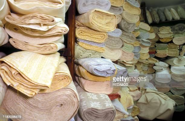 Homemade textiles. Montefalco. Umbria. Italy.