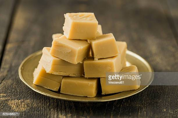 homemade toffees - fudge stock photos and pictures