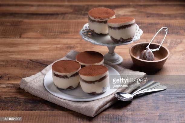 homemade traditional italian dessert tiramisu - mascarpone cheese stock pictures, royalty-free photos & images