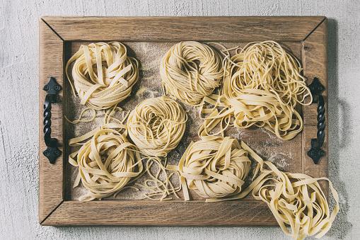 Homemade uncooked pasta - gettyimageskorea
