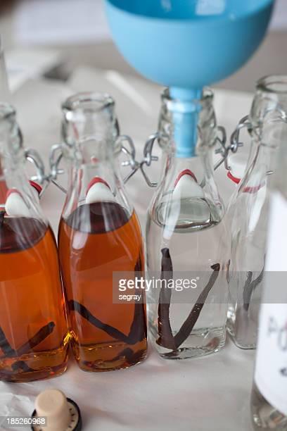 Caseras extracto de vainilla en proceso