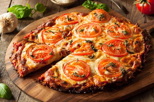 Homemade Vegan Cauliflower Crust Pizza 523044922