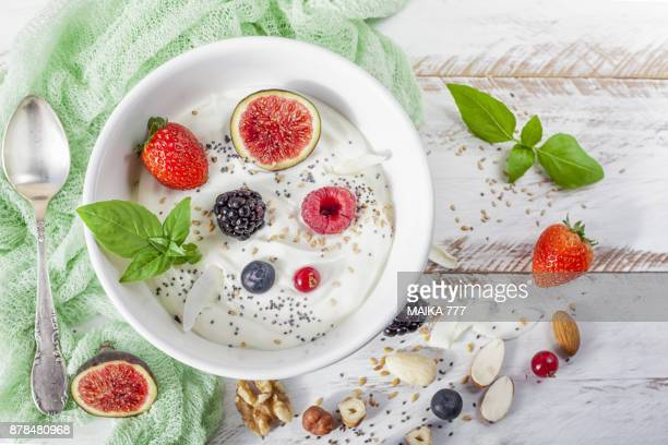 Homemade vegan greek yogurt