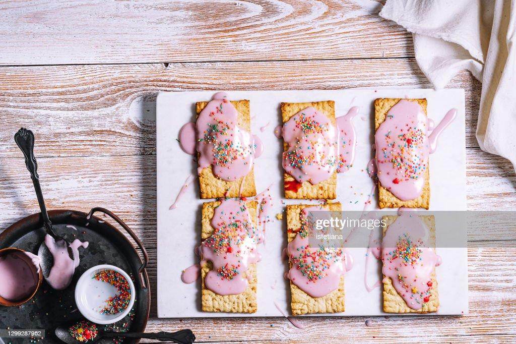 Homemade Vegan Strawberry Toaster Pastries With Sprinkles ...