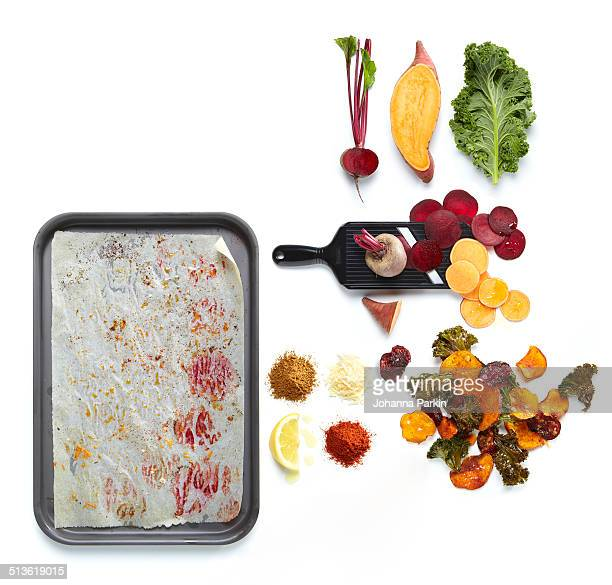 Home-made vegetable crisps
