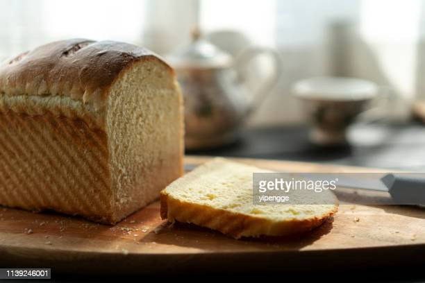 homemade white bread - loaf of bread stock pictures, royalty-free photos & images