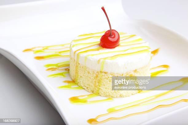 Hausgemachte Kuchen dessert Weiß