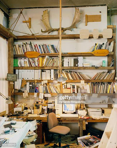 home/office of richard nonas - fernando bengoechea stock pictures, royalty-free photos & images