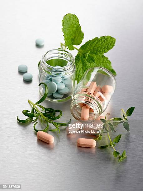 homeopathic medicine and herbs - homeopathic medicine stock photos and pictures