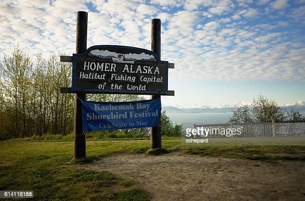 Homer Alaska weclome sign