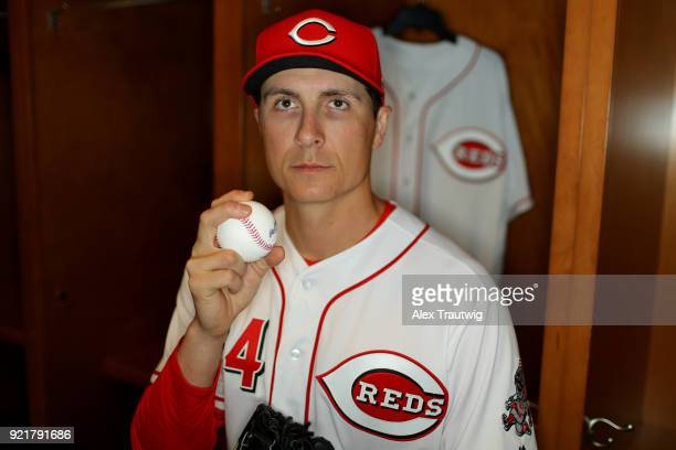 Homer Bailey of the Cincinnati Reds poses during Photo Day on Tuesday February 20 2018 at Goodyear Ballpark in Goodyear Arizona