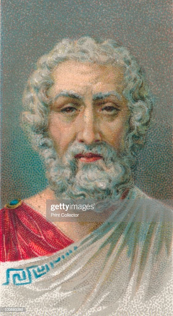 Homer, 1st-2nd century, Roman poet, from Baiae, Campania, Italy, 1924. : News Photo