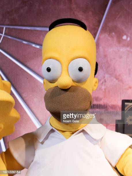 Homer Simpson visits The Empire State Building to celebrate the 30th anniversary of The Simpsons at The Empire State Building on December 17 2018 in...