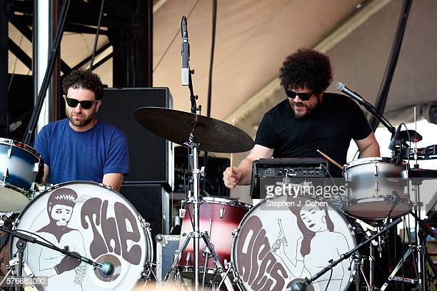 Homer Steinweiss and Richard Swift of The Arcs performs at Waterfront Park on July 16 2016 in Louisville Kentucky