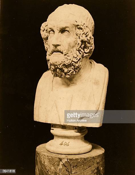 Homer the Greek epic poet who is credited with the 'Iliad' and the 'Odyssey' circa 850 BC