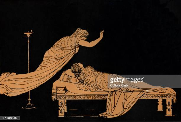 Penelope's dream Homer blind Greek poet c 800 600 BCE Trojan War epic illustration after Flaxman