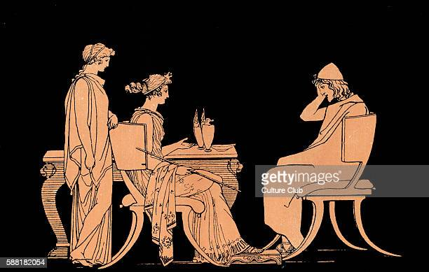 Homer The Odyssey Ulysses at the table of Circe a beautiful witchgoddess who transforms Odysseus's crew into swine when he lands on her island He...