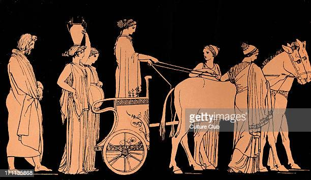 Homer The Odyssey Ulysses follows the car of Nausicaa daughter of King Alcinous and Queen Arete of the Phaeacians Homer blind Greek poet c 800 600...