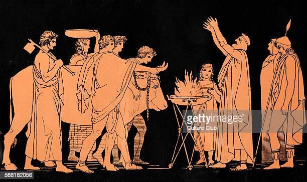 Homer The Odyssey Ulysses Nestor King of Pylos and a former warrior in the Trojan War sacrifice of bulls to Neptune God of the sea Witnessed by...