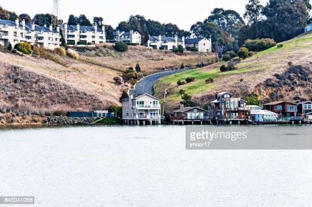 Homes and Condominiums along San Pablo Bay Vallejo California