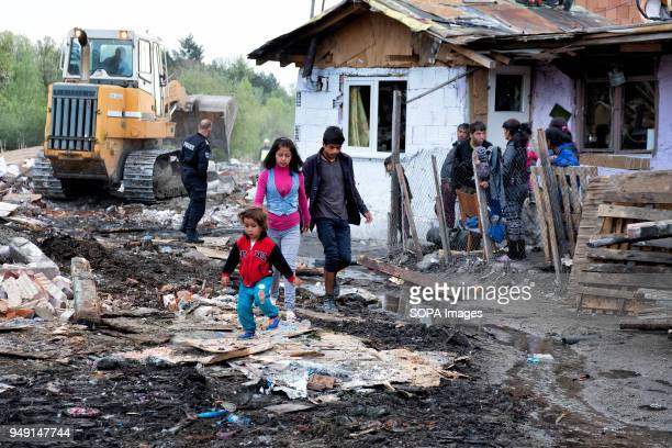 Homes are razed in a Roma quarter of Sofia. At least 20 homes, deemed illegal were destroyed by the local municipality, leaving many of the city's...