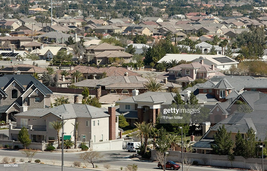 Homes are seen February 24, 2009 in Las Vegas, Nevada. Home prices in Las Vegas fell by 33 percent compared to the same period last year according to the Standard & Poors/Case-Shiller index for the fourth quarter of 2008. Las Vegas' slide was the second worst of the 20 cities tracked by the index, which also shows that national home prices dropped 18.2 percent in the fourth quarter, the largest slide in the index's 21-year history. In addition, the Federal Housing Finance Agency on Tuesday reported an 8.2 percent drop in home prices from a year earlier, its largest annual decline recorded since 1991.