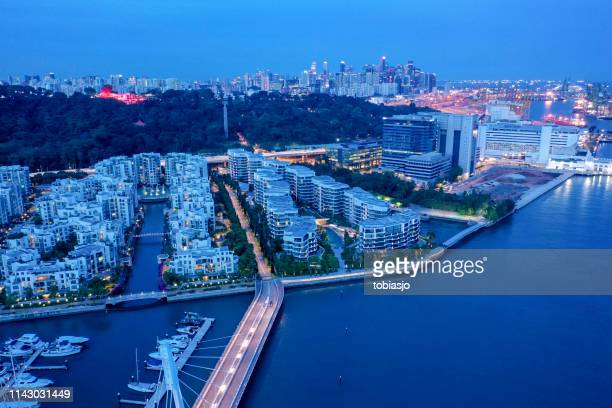 homes at south singapore - southeast stock pictures, royalty-free photos & images