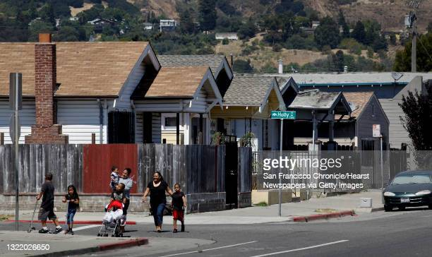 Homes at the corner of 73rd Ave. And Holly Street, in Oakland, Ca. On Thursday July 22 and having the zip code 94621, are among the houses in the...