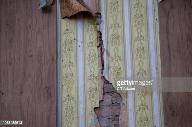 homes being demolished - aberfan stock pictures, royalty-free photos & images
