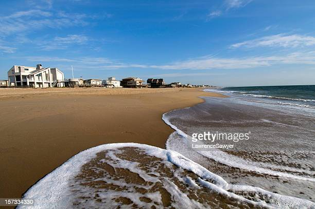 homes by the sea side of virginia beach, usa - virginia beach stock photos and pictures