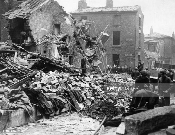 Homes destroyed on Anthony Street in Liverpool during last nights raids pictured Wednesday 16th April 1941