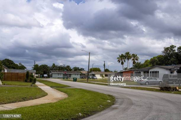Homes in the Miami Gardens neighborhood of Miami, Florida, U.S., on Monday, April 12, 2021. The U.S. Economy is on a multi-speed track as minorities...