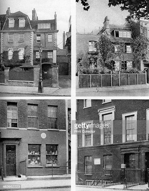 Homes of famous painters London 19261927 Houses inhabited by Whistler and Turner in Cheyne Walk Bottom left is a house in Charlotte Street Fitzroy...
