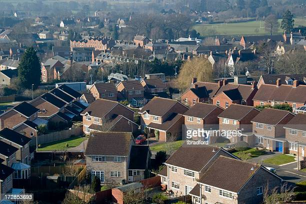 Homes On A Housing Estate In The UK