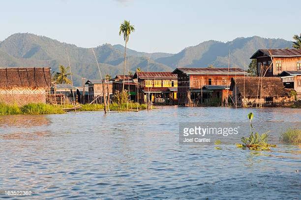 Homes on Inle Lake
