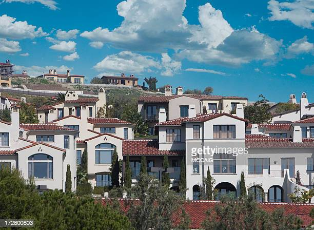 homes -orange county - newport beach california stock photos and pictures