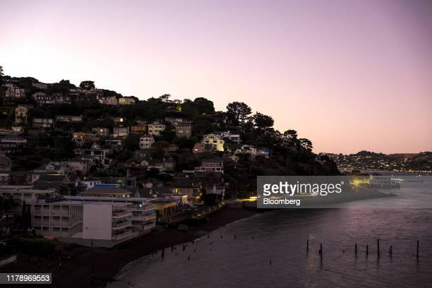 Homes stand during a blackout in Sausalito California US on Tuesday Oct 29 2019 Californians in the midst of another round of blackouts as some of...