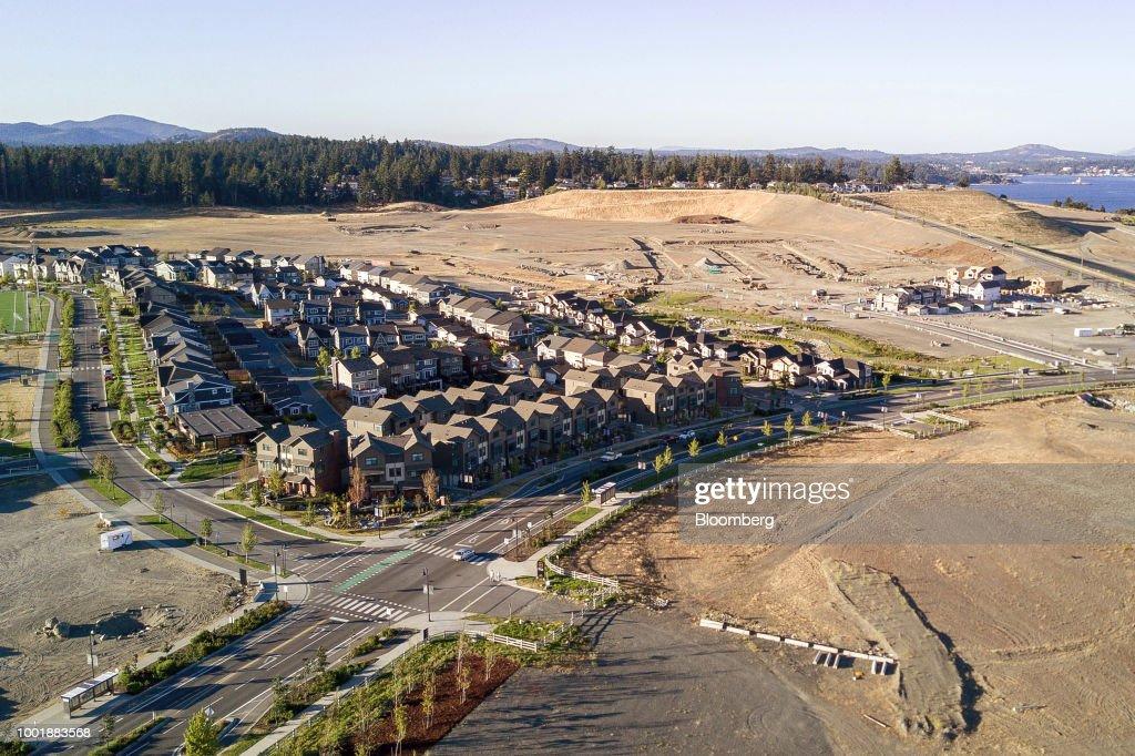 Aerials Views Of British Columbia's Capital As Luxury Real Estate Rises