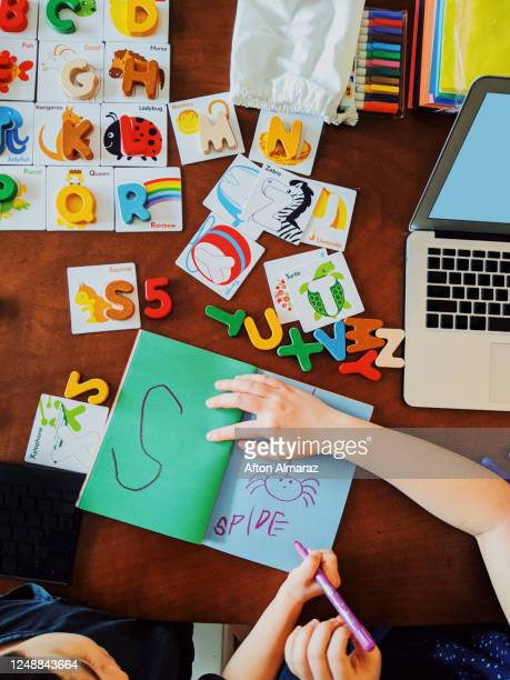 homeschool and distance learning - homeschool stock pictures, royalty-free photos & images