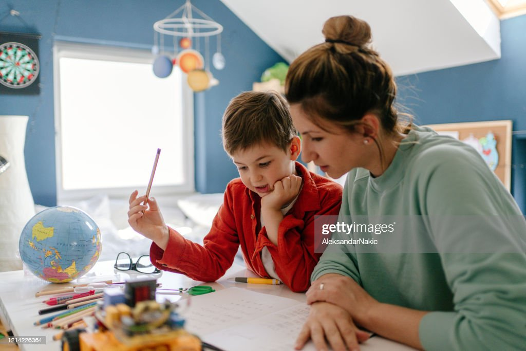 Homeschooling : Stock Photo