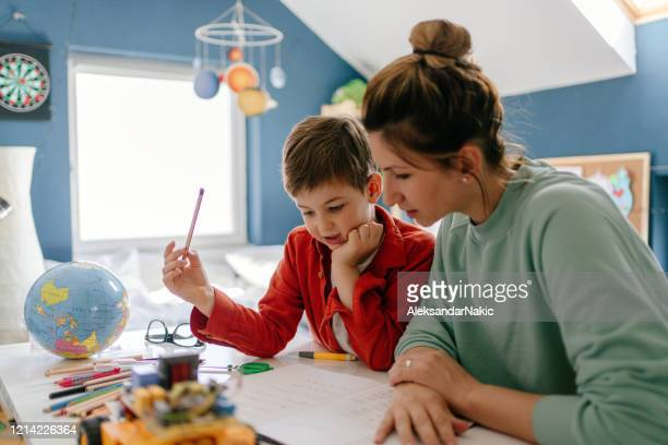 homeschooling - one parent stock pictures, royalty-free photos & images