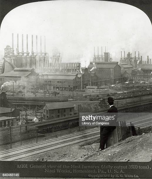 Homestead Steel Works Plant in Pittsburgh Pennsylvania