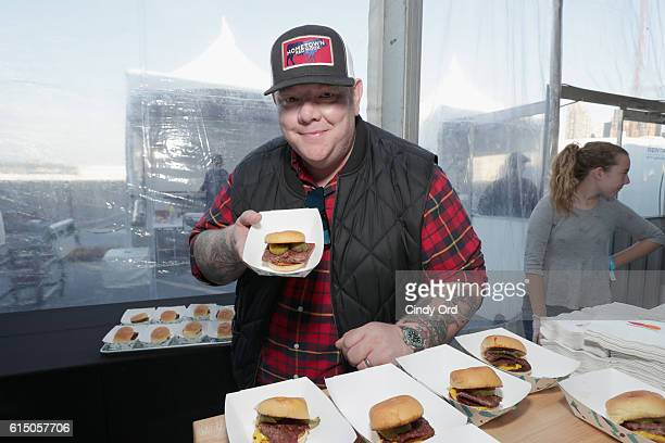 Hometown BarBQue chef Billy Durney attends the CocaCola Backyard BBQ hosted by Bobby Flay and Michael Symon presented by Thrillist sponsored by...