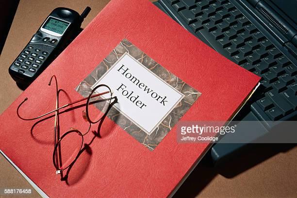 Homework Folder on Desk
