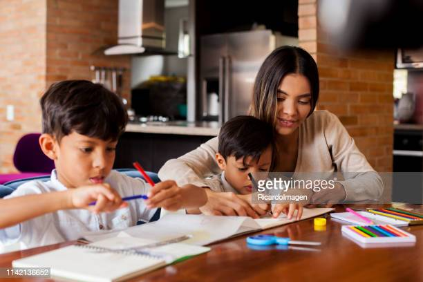 homework of the children - the americas stock pictures, royalty-free photos & images