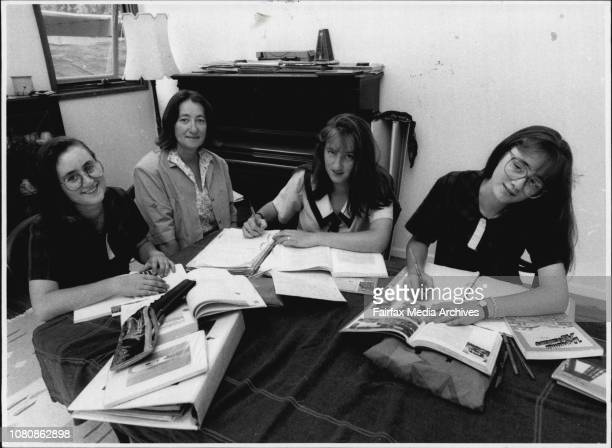 Homework stress in the homeAnthea Josephine and Harriet Spinks with mother Sue Spinks With a son in second year at Sydney University a daughter...