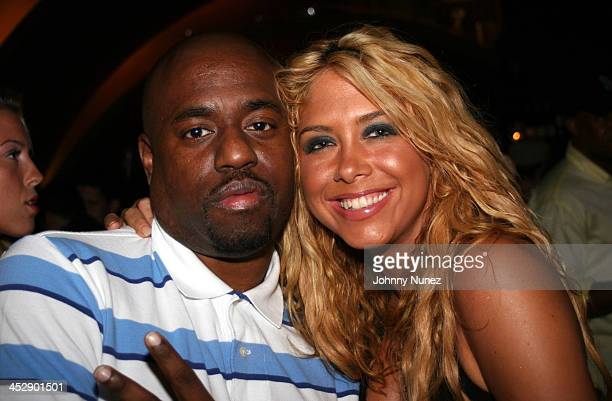 DJ Homicide and Samantha Cole during DJ Cassidy's 24th Birthday Party July 6 2005 at Butter in New York City New York United States